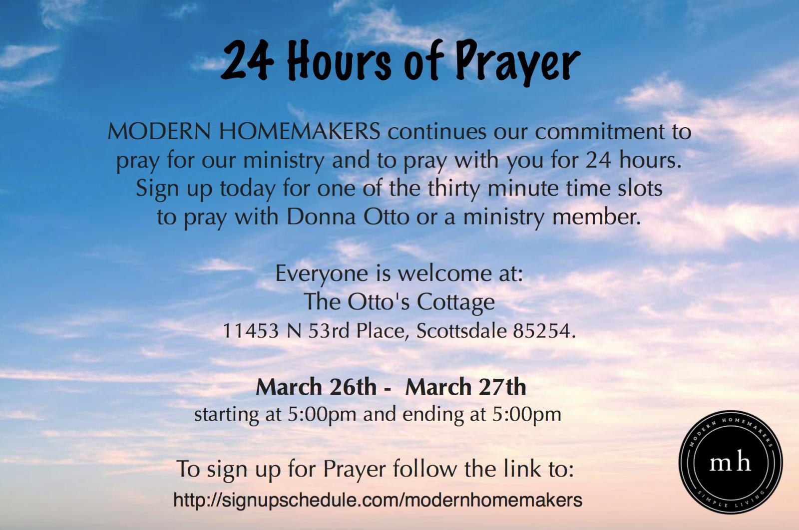 24 HOUR DAY OF PRAYER