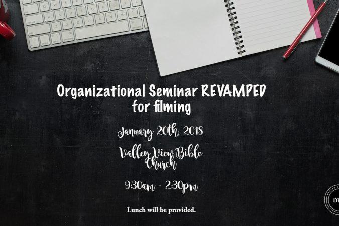 Register for the Organizational Seminar