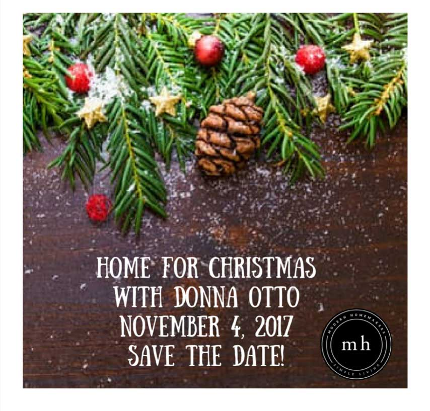 Home For Christmas 2017!  Save the Date!